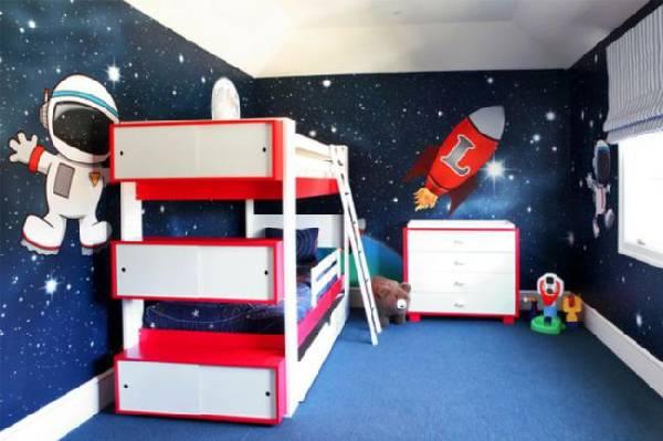 интерьер детской комнаты для двух мальчиков фото, фото 16
