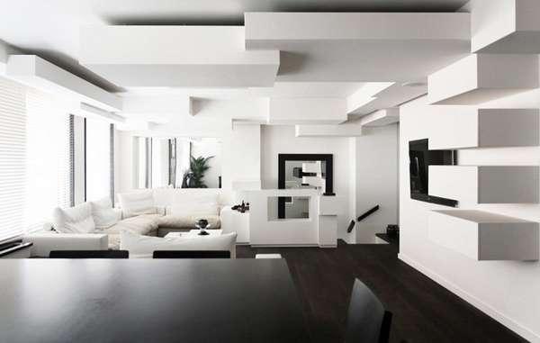 многоуровневые потолки из гипсокартона, фото 13