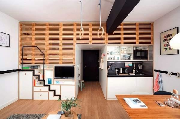 зонирование однокомнатной квартиры: фото, фото 2