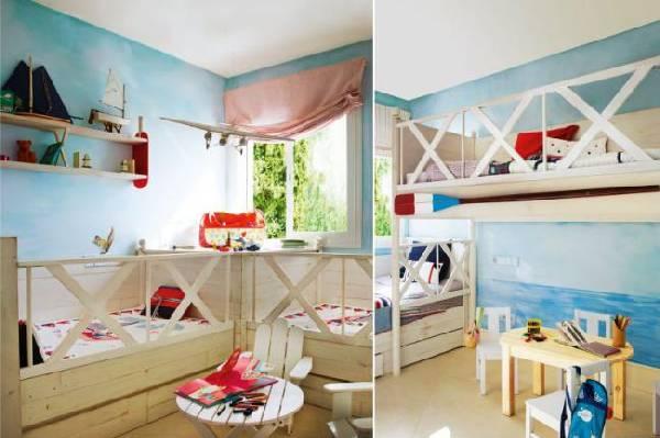 интерьер детской комнаты для двоих детей фото, фото 17