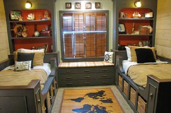 интерьер детской комнаты для троих детей, фото 20