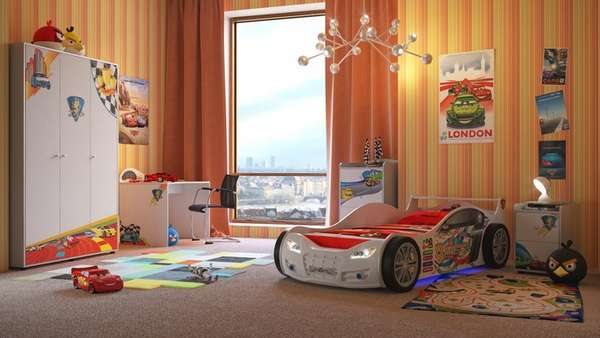 интерьер детской комнаты для мальчика школьника, фото 21