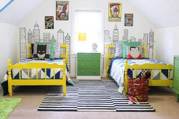 интерьер детской комнаты для троих детей, фото 21