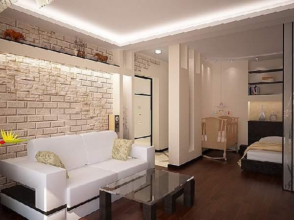 зонирование пространства в однокомнатной квартире: фото, фото 5
