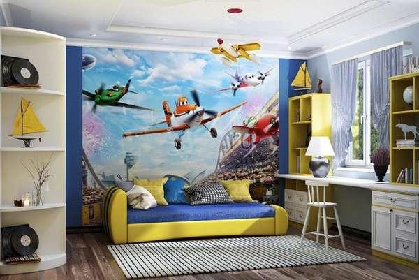 интерьер маленькой детской комнаты для мальчика, фото 23