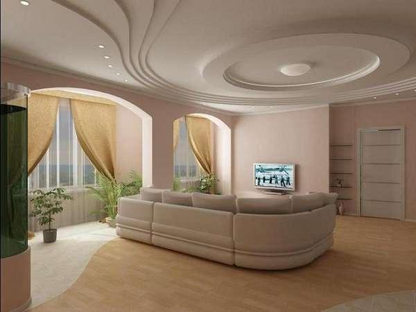 подвесные потолки из гипсокартона фото, фото 18