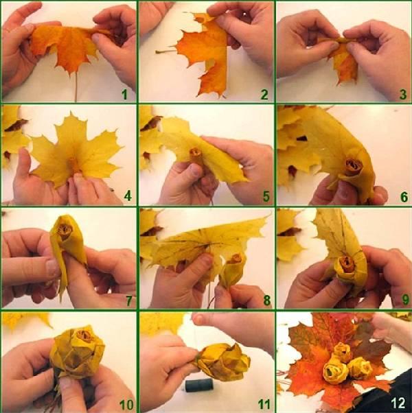 поделки из листьев своими руками, фото 23