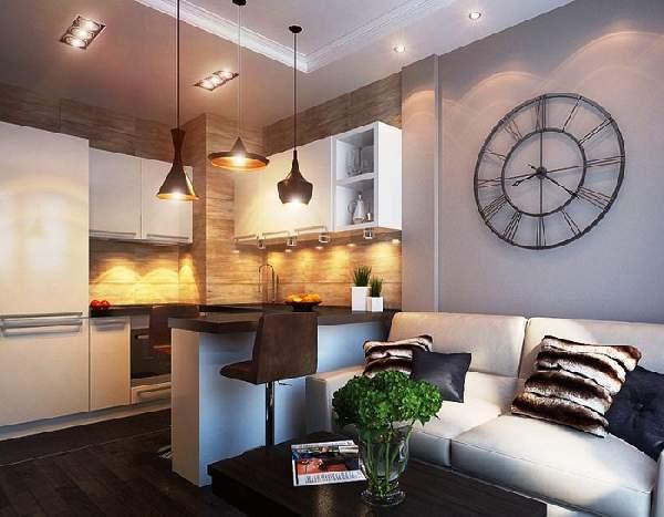 зонирование пространства в однокомнатной квартире: фото, фото 35