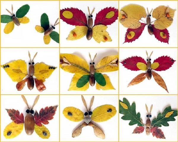 поделки из листьев своими руками, фото 24