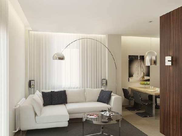 как сделать зонирование в однокомнатной квартире фото, фото 36