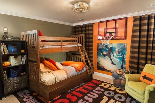 интерьер детской комнаты для мальчиков разного возраста, фото 25