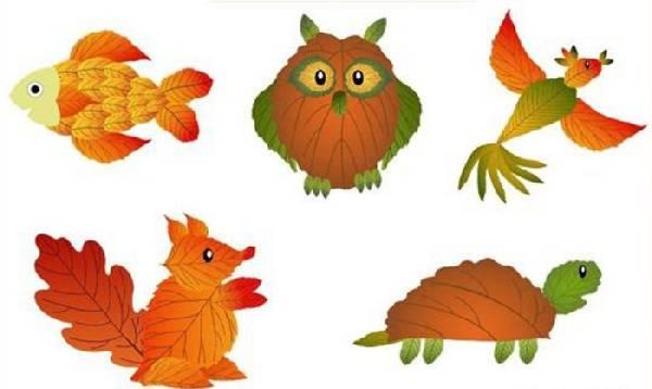 поделки из листьев своими руками, фото 25