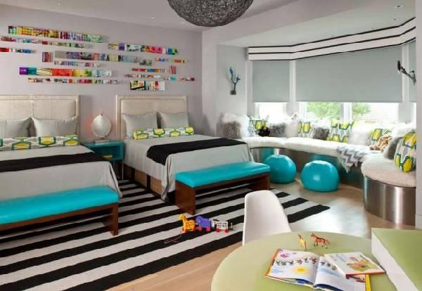 интерьер детской комнаты для разнополых детей, фото 27