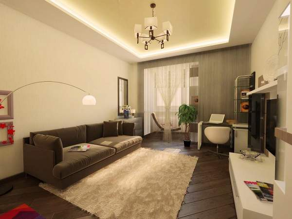 как расставить мебель в однокомнатной квартире хрущевке, фото 27