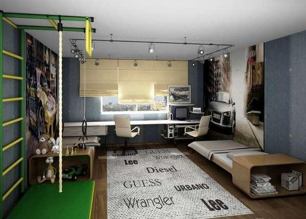 интерьер детской комнаты для мальчиков подростков, фото 28