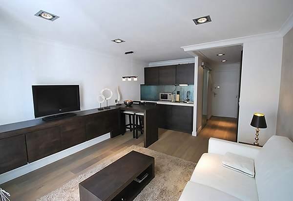 как расставить мебель в однокомнатной квартире хрущевке, фото 28