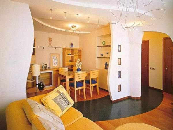 зонирование комнаты в однокомнатной квартире фото, фото 26