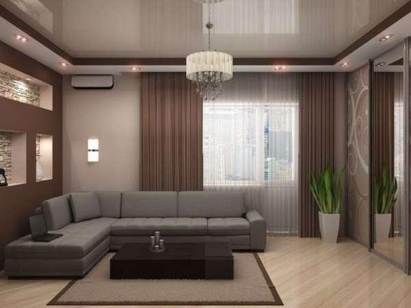 двухуровневые потолки из гипсокартона для гостиной фото, фото 6