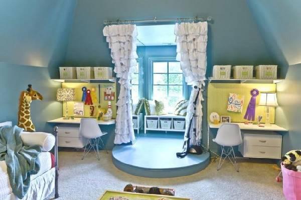 интерьер детской комнаты для разнополых детей, фото 30