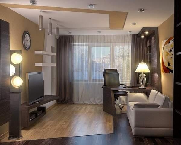 как расставить мебель в однокомнатной квартире хрущевке, фото 29