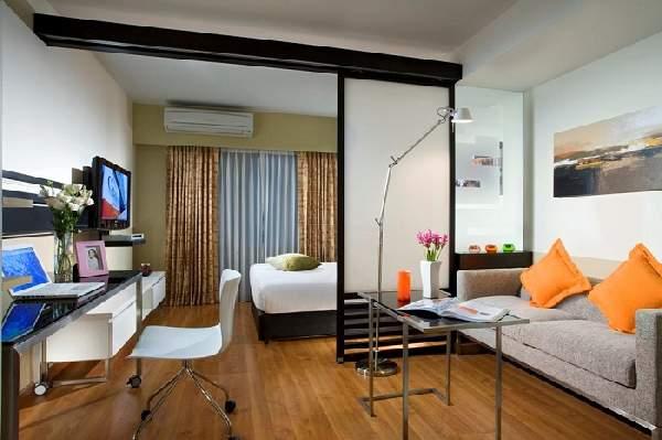 зонирование пространства в однокомнатной квартире: фото, фото 27