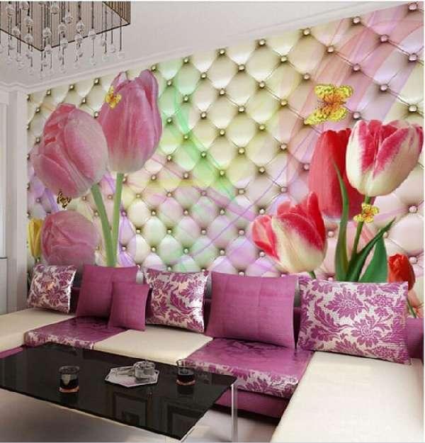 3д фотообои для стен цветы, фото 18
