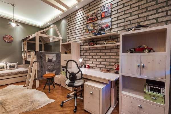 интерьер детской комнаты для мальчиков подростков, фото 30