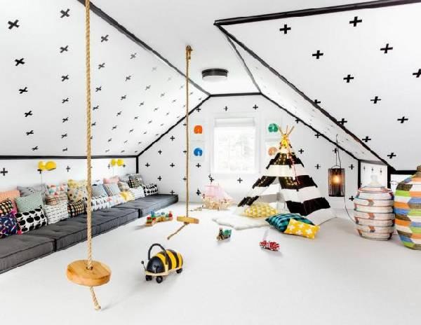 интерьеры детских комнат для двоих разнополых детей, фото 31