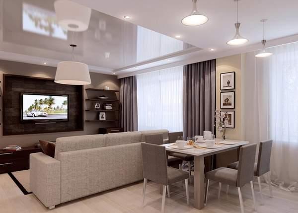 как расставить мебель в однокомнатной квартире, фото 31