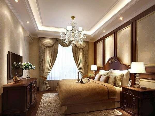 потолки из гипсокартона в спальню, фото 47