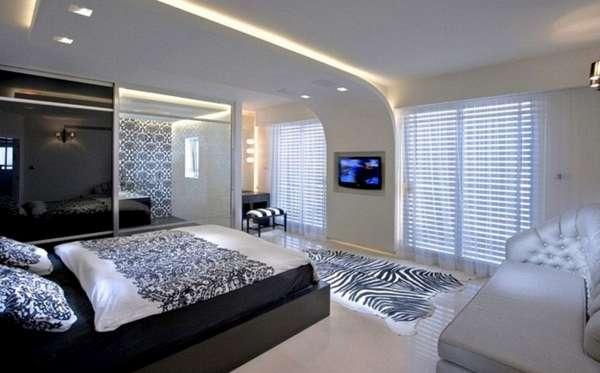 потолки из гипсокартона в спальню, фото 48