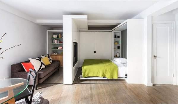 зонирование однокомнатной квартиры для семьи, фото 45
