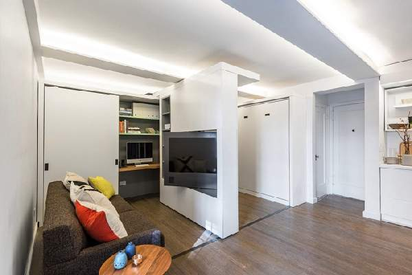 зонирование однокомнатной квартиры для семьи, фото 46