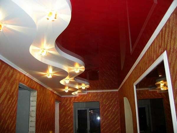 гипсокартонные потолки фото, фото 42