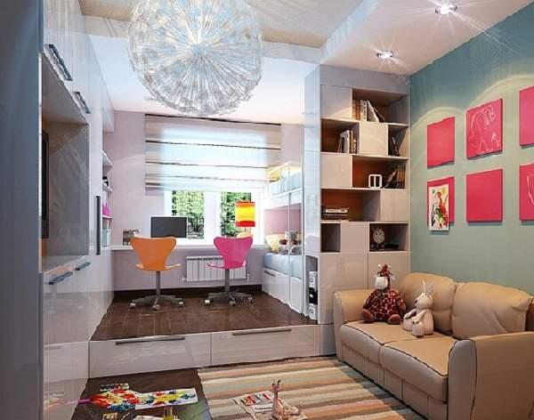 зонирование однокомнатной квартиры для семьи, фото 47