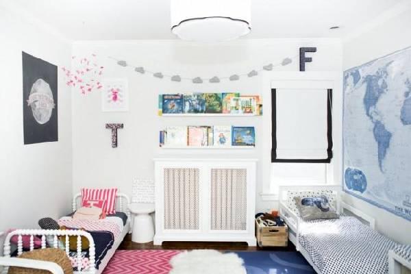 интерьеры детских комнат для двоих разнополых детей, фото 37