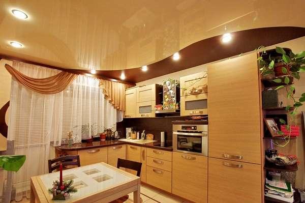 потолки из гипсокартона на кухню, фото 37