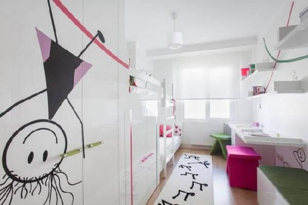 интерьер детской комнаты для двоих детей, фото 38