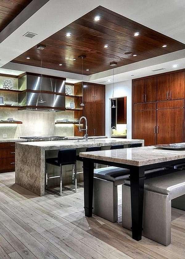 потолки из гипсокартона на кухню, фото 39