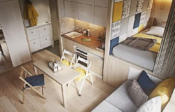 Идеи для маленьких квартир своими руками 19