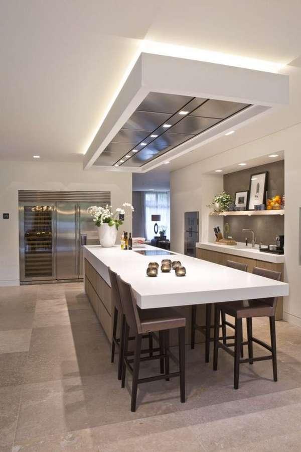 потолки из гипсокартона на кухню, фото 40
