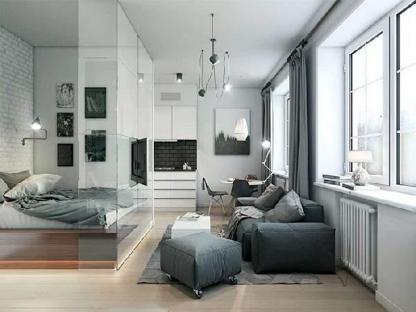 зонирование однокомнатной квартиры фото 18 кв м, фото 8