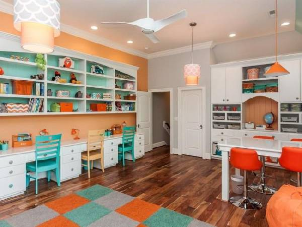 интерьер детской комнаты для разнополых детей, фото 42