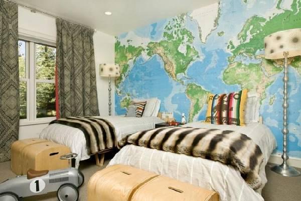 интерьеры детских комнат для двоих разнополых детей, фото 43