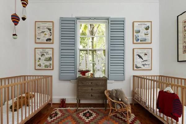 интерьер детской комнаты для разнополых, фото 44