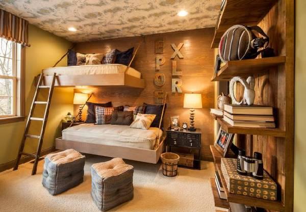 интерьер детской комнаты для 2 детей, фото 48