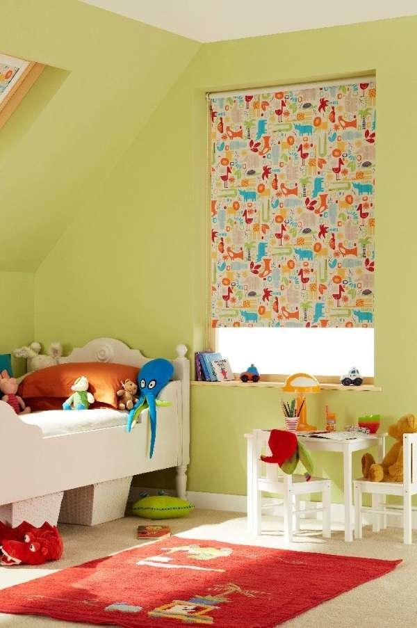 рулонные шторы в детскую комнату фото, фото 38