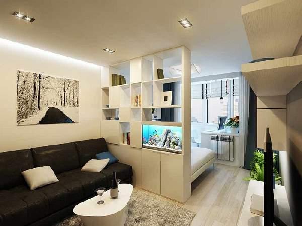 интерьер однокомнатной квартиры с ребенком зонирование фото, фото 40
