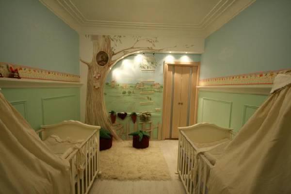 интерьер детской комнаты с двумя кроватями, фото 49