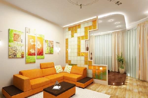 интерьер однокомнатной квартиры с ребенком зонирование фото, фото 42